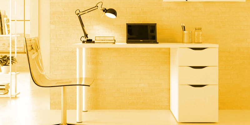 Escritorio de madera blanco barato baratos barata baratas mesa de escritorio precio precios comprar oferta ofertas rebaja rebajas