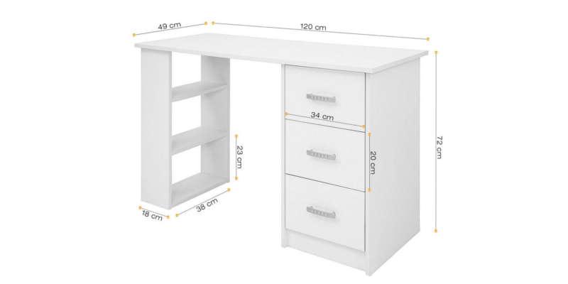 Mesa escritorio de madera comifort - Mesas escritorio de cristal ...