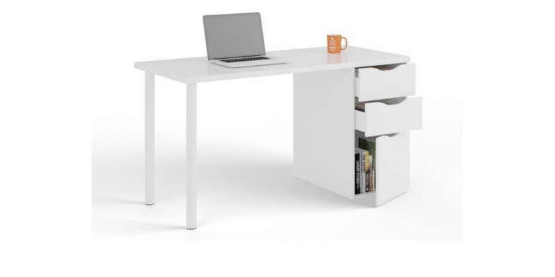 Mesa escritorio de madera blanca