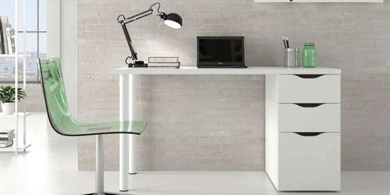 Mesa escritorio de madera Mesa de estudio escritorio de cristal bonVIVO barata barato precio precios comprar oferta ofertas rebaja rebajas